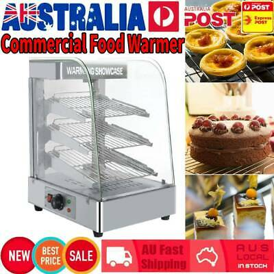 Commercial Food Warmer Pie Pizza Hot Display Buffet Showcase Stainless Steel AU