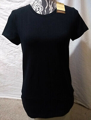 Sonoma Life + Style Everyday Tee Casual SS T-Shirt-Solid Black-Slimmer Fit-Small