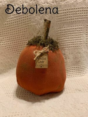 Chunky Primitive Grungy Cinnamon Pumpkin Shelf Sitter Tag: Primitive Lover