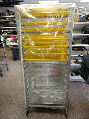 Donut Screen 6' Rolling Rack With 15 Shelves And Several Trays + Zipper Cover