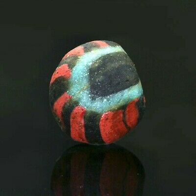 Ancient glass beads: Medieval Byzantine / Islamic mosaic glass bead, 7-9 century