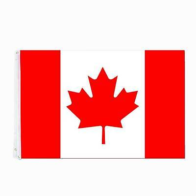 CANADA FLAG 3x5 FT National Banner Polyester With Grommets Canadian Maple Leaf
