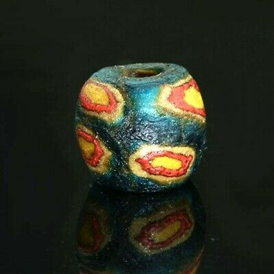 Ancient glass beads: genuine Medieval Byzantine / Islamic mosaic glass bead