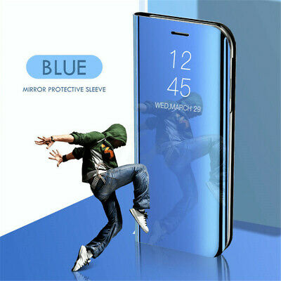 Magnetic Leather Flip Mirror Stand Case Cover For Samsung Galaxy S10 Plus S10e