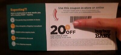 BUY BUY BABY 20% OFF ONE SINGLE ITEM COUPON  In Store Only - Exp. 11/04/19