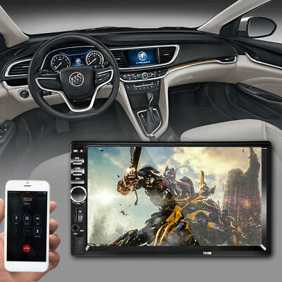 2Din Touch Screen Car MP5 Player Bluetooth Stereo FM Radio USB/TF AUX In F8G9 7""