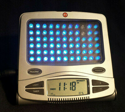 Apollo Health GoLite Blue Wave Portable Mood Relief P1 SAD Light Therapy Clock