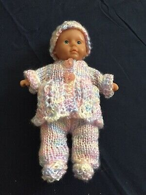 Hand Knitted Dolls Clothes For 7 Inch Doll