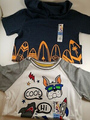 Toddler Boys Shirts Size 5T Lot Of 2 Garanimals
