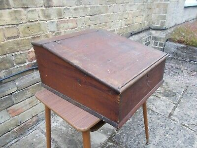 Antique / Vintage Wooden Writing Slope / Desk top