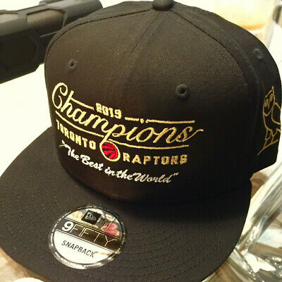 "OVO x RAPTORS ""The Best in The World"" Championship Snapback Hat (by Music Mgr)**"