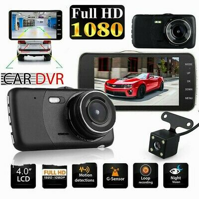 4inch 1080P Dual Lens Car Dash Cam Front and Rear Camera DVR Recorder Video 170°