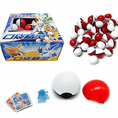 Cute 36pcs Red Pokemon Go Pokeball Pop-up Ball & Mini Monsters Figures Kids Toy