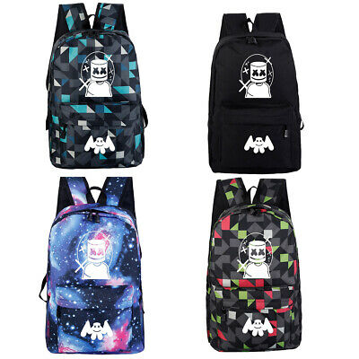 Marshmello DJ Backpack School Bag Students Bookbag Travelbag Rucksack Kids Bag