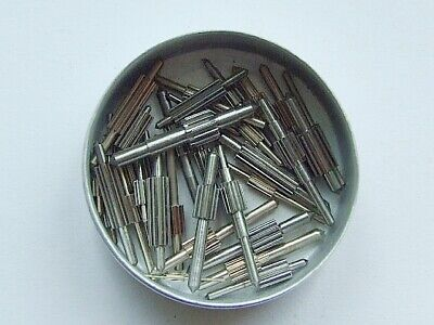 Lot of 36 assorted small clock pinions. New old stock for clock maker