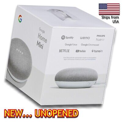 Google Home Mini Assistant  Smart Small Speaker - Chalk  -  BRAND NEW