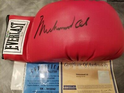 Muhammad Ali Signed Steiner Onlineauthentics Glove One Of The Larger Signatures