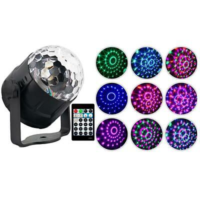 15 Color Disco Party DJ LED RGB Stage Effect Light Lamp Crystal Magic Ball