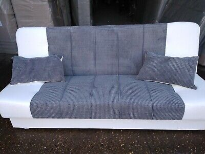 Sofa Bead NEW LARGE CLICK CLACK AVESTA FABRIC WITH STORAGE 3 SEATER DOUBLE BED