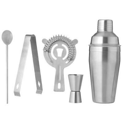 5pc SHAKER SET Cocktail Martini Stainless Steel Mixer Bar Tools Drink Bartender