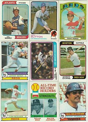 1970's Topps Baseball Star and Hall of Fame lot of 32 Ex Mt