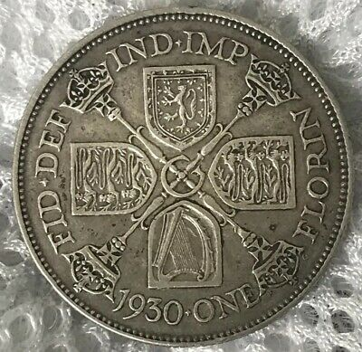 One Florin Silver Coin 1930 George V Great Britain