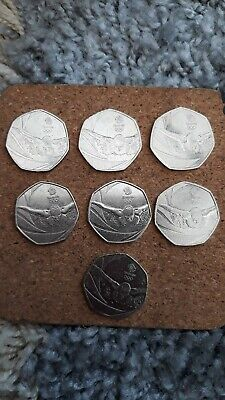 Olympic 50p Coin DIVING. London 2012. TeamGB. Fifty pence. Circulated.
