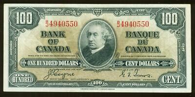 Canada: 1937 Bank Of Canada One Hundred Dollars Banknote