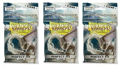Dragon Shield Perfect Fit Inner Sleeves Clear 3 packages (300 total) at-13023