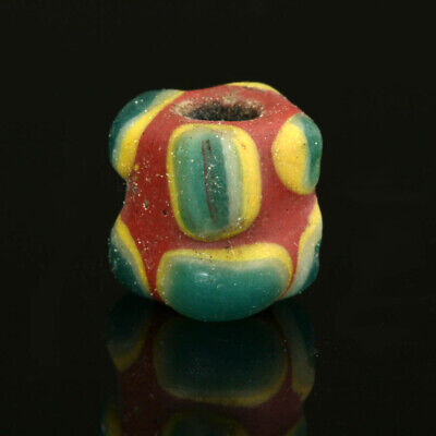 Ancient glass beads: Medieval, Islamic / Byzantine complete horned eye bead