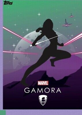 2x Topps MARVEL COLLECT DIGITAL Card HEROIC SILHOUETTES COMPOSITION GAMORA