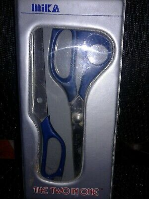 Mika The Two In One Pattern Shears Lead Foil Scissors Glass Tool 2 In One Case