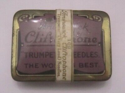 Brunswick Cliftophone Gramophone Needle Tin Trumpeter (Very Loud) Needles