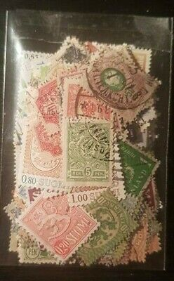 Lotto 100 francobolli Finlandia differenti usati Finland Lot 100 different stamp