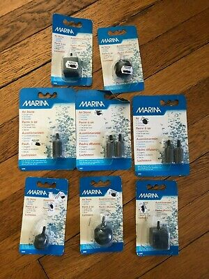 Lot of 10 Marina Aquarium Air Stones in 8 Packages Fast Free Shipping from USA
