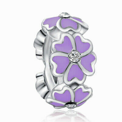 NEW European Silver plated Charm Bead Fit sterling 925 Necklace Bracelet D#132