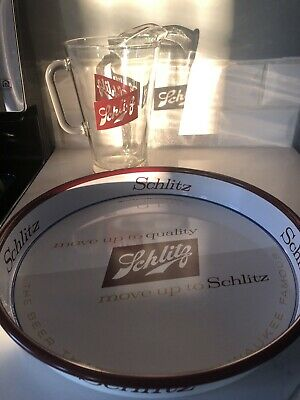 Schlitz Pitcher And Tray The Beer That Made Milwaukee Famous
