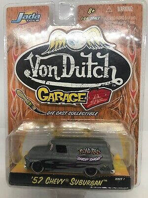 Jada 58 1958 Chevy Impala Von Dutch Garage Chevrolet Collectible Car Raw +Flames