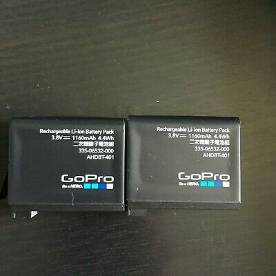 Two Gopro hero 4 battery ahdbt-401