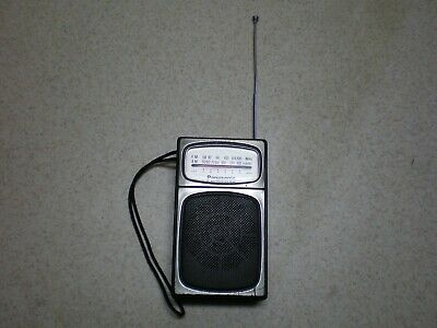 1970s Panasonic AM/FM Transistor Radio Model RF504 works well Good condition