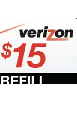 $15 VERIZON WIRELESS PREPAID REFILL CARD ( Fast Email Delivery)  New **