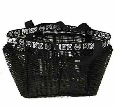 2d5c6e0fdeea2 VICTORIAS SECRET PINK SHOWER BATH CADDY BLACK MESH MAKEUP ACCESSORY ...