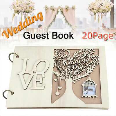 Wedding Decoration Wooden Wedding Guest Book Party Supplies Message Board