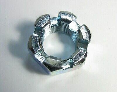 """1"""" - 14 Thread Size Zinc Plated Castle Nut (Qty 1)"""