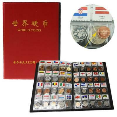 5x Album Book Collection Storage Penny Pocket Money Flag Coin Collecting Holders