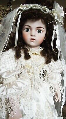 ANTIQUE REPRODUCTION 28in BRU JNE 15 VICTORIAN BRIDE DOLL PATRICIA LOVELESS NRFB