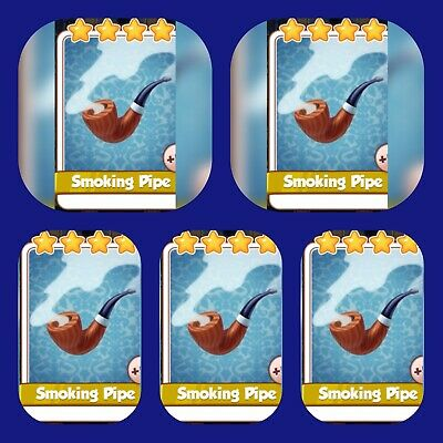 Coin Master cards Pack☆☆☆5x Smoking Pipe ☆☆☆ Fastest Delivery