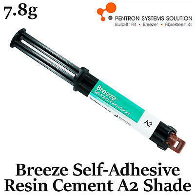 Dental Pentron Breeze Self-Adhesive Resin Permanent C&B Cement A2 Shade 7.8gr