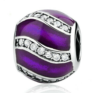 NEW European Silver plated Charm Bead Fit sterling 925 Necklace Bracelet D#099