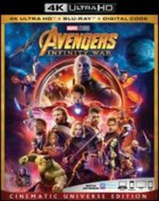 Avengers Infinity War 4K Ultra HD w/ Slipcover and Case